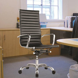 Fine Mod Imports - 25 in. Conference Office Chair (White) - Finish: WhiteContemporary style. Chair with high back. Chrome plated steel frame. Tilt lock, tilt tension and removable arms. Leatherette seat and back. Five star base with casters. Warranty: One year. Assembly required. Seat: 20 in. W x 18 in. D x 18 in. to 21 in. H. Overall: 25 in. W x 24 in. D x 42 in. H (48 lbs.)The conference office chair offers unique design and comfort all in one package, making it must-have for your office. Conference office chair looks great in the office or home based workstation.