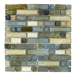Illusion Glass Tile - Desert Mirage - Glass Mosaic Tile in Sagebrush -