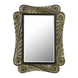 CAL Lighting - CAL LIGHTING WA-2158MIR  Capri Rectangular Polyurethane Frame Mirror with Bevele - CAPRI RECTANGULAR PU BEVELED MIRROR
