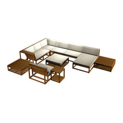 Westminster Teak Furniture - Maya 10pc Teak Conversation Set - Maya Teak Outdoor Sectional Set, Modular Design, Upscale Sophistication.  Rated Best Overall by Wall Street Journal.