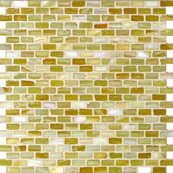 "Glass Tile Oasis - Light Caramel 1/2"" x 1"" Bronze/Copper Pool Frosted Glass - Sheet size:  12 1/2"" x 12 1/4"".        Tile Size:  1/2"" x 1""        Tiles per sheet:  276        Tile thickness:  1/4""      Recycled Components:   20%       Sheet Mount:  Paper Face      Sold by the sheet    -  Brilliant glass combed through with coordinating colors and available in 14 mouth-watering colors  in both Iridescent and Frost finishes.Waterfall tiles are hand-poured and will have a certain amount of variation and variegation of color  tone  shade and size. Additionally  you will notice creases  wrinkles  shivers  waves  bubbles topped off with a natural surface to catch all forms of light for a brilliant effect. These characteristics of natural glass and only serve to enhance the final beauty of the installation."
