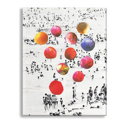 Gallery Direct - Beth Hoeckel's 'Beach Balls' Gallery Wrapped Canvas, 23x30 - Beth Hoeckel's mixed media works are out of this world. This canvas gallery wrapped print is sure to shine, adding visual interest and depth to your home. Printed using high quality materials, the stretched canvas arrives ready to hang on your wall.