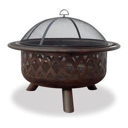Garden Treasures - Garden Treasures WAD792SP Fire Pit w/ Lattice Design - Oil Rubbed Bronze Bowl with Design