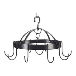 """Koehler Home Decor - Koehler Home Decor Mini Round Pot Hanger - Organize your kitchen in a flash with this marvelous miniature pot rack. Ideal for small kitchens or to add instant storage to an unused corner, this handy circular rack holds six pots or utensils right at your fingertips. Eliminates countertop clutter and crowded cabinets while adding gourmet flair to the heart of your home. Metal. 17.25""""x 17.5""""x 10.5"""" high.This handy circular rack holds six pots or utensils right at your fingertips. Material: Metal. Size: 17.25""""x 17.5""""x 10.5"""" high."""