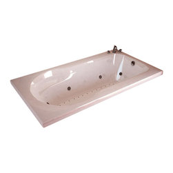 Spa World Corp - Atlantis Tubs 3260Z Zepher 32x60x23 Inch Rectangular Soaking Bathtub - The Zepher is uniquely designed as a body envelope which soothingly contours your back and arms using the side arm rests. The Zepher accomodates your needs for comfort and durability while still maintaining a practical size, making installation a breeze. Sit back, relax, and embark on the massaging jets, an spa like feeling in your home.
