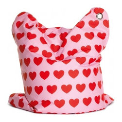 Sitting Bull Mini Fashion Bull, Heartbeat - Don't forget the kiddos this Valentine's Day. This Heartbeat Mini Fashion Bull functions as a chair, a toy, a pillow or simply a cute accessory in a modern kid's room.