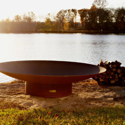 Fire Pit Art - Fire Pit Art - Asia 72 inch Modern Asian Inspired Fire Pit (FPA-AS-72) - The Asia series is a low close to the earth oriental design.