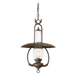 """Troy Lighting - Troy Lighting FCD9013 La Grange 1 Light 27"""" Outdoor Lantern Pendant - *Metalwork: Hand-Forged IronGlassware: Clear Seeded (CD)1 - 100W Medium Base (Not Included)16""""W 26 1/2""""HChain Hung Fixtures come with 4 Feet of Chain and 10 Feet of Wire"""