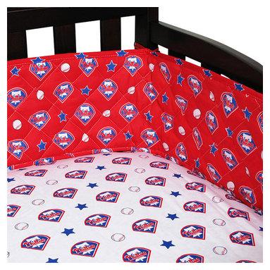 Sports Coverage Inc - MLB Philadelphia Phillies Crib Bumper Baseball Baby Bedding - Features: