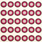 Passion Flower Eco Napkins, Berry/Cream, Set of 4