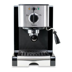 Capresso - Capresso EC100 Pump Espresso & Cappuccino Machine - Jura Capresso Espresso Machine create new and delicious gourmet coffee beverages quickly and easily. Uses a stainless-steel lined ThermoBlock with 15 bar pressure.