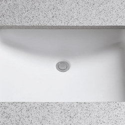"""Toto - Toto LT540G#01 Cotton  21-1/4"""" Undermount Bathroom Sink with Overflow - Product Features:Uniquely shaped basin adds a custom look to your bathroomCovered under Toto s limited 1-year warrantyConstructed of vitreous china providing a classic look and feelPedestal installation type - pedestal sold separatelyRear drain location increases area in the sink as well as storage underneathEquipped with overflow drain – works in tandem with the primary drain to prevent an overflow or spillageAll hardware needed for installation includedExtra-secure mounting assemblyToto bathroom sinks provide unmatched performance, durability and reliabilityProduct Technologies / Benefits:SanaGloss Ceramic Glaze: This innovation, which Toto has trademarked to almost all of their sinks, provides a solution to build-up on the surface of the sink. SanaGloss seals the porcelain surface with an ionized barrier, creating a super-smooth surface that prevents particles from adhering to ceramic; meanwhile a catalyzed ion barrier actually repels particles away, keeping the toilet looking clean and new for years to come. Whether it is used in a commercial or residential application, SanaGloss will make sink maintenance a breeze.Product Specifications:Overall Width: 12"""" (measured from the back outer rim to the front outer rim)Overall Length: 22-5/8"""" (measured from the left outer rim to the right outer rim)Basin Width: """" (measured from the back inner rim to the front inner rim)Basin Length: """" (measured from the left inner rim to the right inner rim)Installation Type: PedestalNumber of Faucet Holes: 1Drain Outlet Connection: 1-1/4""""About Toto:For over 90 years Toto has been producing superbly designed, high-performance plumbing products for residential and commercial bathrooms. With a concen"""
