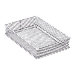 Miu France - MIU Siver Mesh Drawer Organizer - Organize your drawers with this mesh organizer from MIU. This organizer is the solution to drawer chaos.