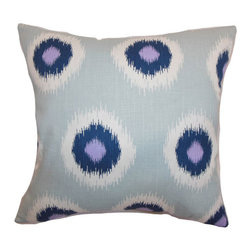 The Pillow Collection - Paegna Ikat Pillow Berries - - Comes standard at 18 x 18  - Reversible pillow with same fabric on both sides  - Includes a hidden zipper for easy cover removal and cleaning  - Comes standard with a down pillow insert  - All four sides have a clean knife-edge finish  - Pillow insert is 19 x 19 to ensure a tight and generous fit  - Cover and insert made in the USA  - Spot cleaning recommended  - Fill Material: Down  - Pillow cover made of Cotton The Pillow Collection - P18-PP-IKATDOMINO-BERRIESDREW-