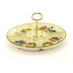 Artistica - Hand Made in Italy - Frutta Fondo Miele: Tid-Bit Snack Tray - Artistica's Exclusive!