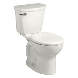 "American Standard - American Standard 215B.B104.020 Cadet Pro Rounded-Front 10"" Rough Toilet, White - American Standard 215B.B104.020 Cadet Pro Right-Height Rounded-Front 10"" Rough Toilet, White. This vitreous china constructed round-front toilet meets EPA WaterSense criteria, a trade-exclusive tank, a PowerWash rim that scrubs the bowl with each flush, a robust metal left-sided trip lever/metal shank fill valve assembly, an EverClean surface, a 4"" piston-action Accelerator flush valve, a 10"" Rough-in, a chrome finish trip lever, and a fully-glazed 2-1/8"" trapway."