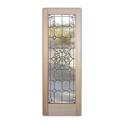 """Beautiful Bevels Glass Front Doors - Glass Entry Doors Sandblast Frosted Glass D - Glass Front Doors, Entry Doors that Make a Statement! Your front door is your home's initial focal point and glass doors by Sans Soucie with frosted, etched glass designs create a unique, custom effect while providing privacy AND light thru exquisite, quality designs!  Available any size, all glass front doors are custom made to order and ship worldwide at reasonable prices.  Exterior entry door glass will be tempered, dual pane (an equally efficient single 1/2"""" thick pane is used in our fiberglass doors).  Selling both the glass inserts for front doors as well as entry doors with glass, Sans Soucie art glass doors are available in 8 woods and Plastpro fiberglass in both smooth surface or a grain texture, as a slab door or prehung in the jamb - any size.   From simple frosted glass effects to our more extravagant 3D sculpture carved, painted and stained glass .. and everything in between, Sans Soucie designs are sandblasted different ways creating not only different effects, but different price levels.   The """"same design, done different"""" - with no limit to design, there's something for every decor, any style.  The privacy you need is created without sacrificing sunlight!  Price will vary by design complexity and type of effect:  Specialty Glass and Frosted Glass.  Inside our fun, easy to use online Glass and Entry Door Designer, you'll get instant pricing on everything as YOU customize your door and glass!  When you're all finished designing, you can place your order online!   We're here to answer any questions you have so please call (877) 331-339 to speak to a knowledgeable representative!   Doors ship worldwide at reasonable prices from Palm Desert, California with delivery time ranges between 3-8 weeks depending on door material and glass effect selected.  (Doug Fir or Fiberglass in Frosted Effects allow 3 weeks, Specialty Woods and Glass  [2D, 3D, Leaded] will require approx. 8 w"""