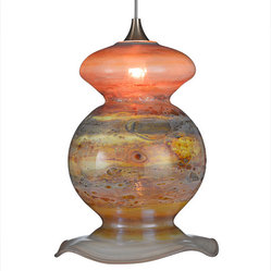 Vase Glass Pendant Light