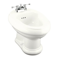 "KOHLER - KOHLER K-4832-0 Revival Centerset Bidet, Plumbed for Horizontal Spray Bidet Fauc - KOHLER K-4832-0 Revival Centerset Bidet, Plumbed for Horizontal Spray Bidet Faucet in WhiteWith its classically romantic 1930's design, elliptical form and rolled edges, this Revival centerset bidet offers a modern take on a traditional design. Horizontal spray flows over the rim for localized cleansing of the body, and aids in relief of certain health conditions. A palette of KOHLER colors is available to complement any decor.KOHLER K-4832-0 Revival Centerset Bidet, Plumbed for Horizontal Spray Bidet Faucet in White, Features:• 24-3/8""L x 16""W x 15""H"