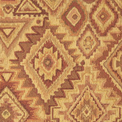 Beige, Orange, Yellow and Burgundy Southwest Style Upholstery Fabric By The Yard - This southwest chenille upholstery fabric is great for all indoor upholstery applications. This material is uniquely soft and durable. Any piece of furniture will look great upholstered in this material!