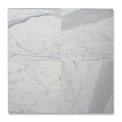 Stone Center Corp - Calacatta Gold Marble Tile 18x18 Honed - Premium Grade Calacatta Marble Italian Calcutta Gold (Calcutta Oro and Calcutta Borghini) Honed 18 x 18 Wall & Floor Tiles are perfect for any interior/exterior projects such as kitchen backsplash, bathroom flooring, shower surround, countertop, dining room, hall, lobby, corridor, balcony, terrace, spa, pool, etc. Our large selection of coordinating products is available and includes hexagon, herringbone, basketweave mosaics, subway tiles, moldings, borders, and more.