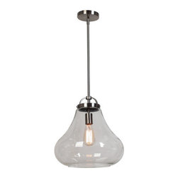 Access Lighting - Access Lighting 55546 Flux 1 Light Pendant - The eye-pleasing 55546 Flux Vintage Lamped Chandelier by Access Lighting offers originality within its industrial styling.  This early 20th century style fixture features amber clear smoke glass and finish options including antique bronze and antique nickel.  If a touch of class for your home is what you�re looking for, look no further than this delightful chandelier.   Specifications: