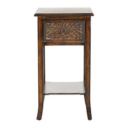 Safavieh - Salt End Table - Enough can't be said for the importance of being earnest. And the solid birch construction and tactile decorative details of the Salt end table offer a visual entree into a world where style and substance go hand in hand.