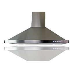 "WindMax - 30"" Kitchen Wall Mount Stainless Steel Flat Range Hood Chimney Vents - * 30"" Kitchen Wall Mount Stainless Steel Flat Range Hood Chimney Vents"