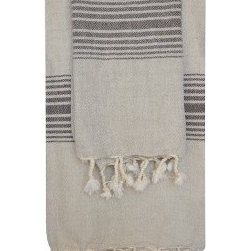 Linen Bath Towel - This lightweight Turkish natural linen and cotton towel offers a fresh look for the bathroom and dries fast.