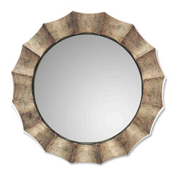 Uttermost - Uttermost Gotham U Antique Silver Mirror - Unique frame features an antique silver leaf finish with warm highlights which resembles a burnished champagne finish. The inner liner is satin black.