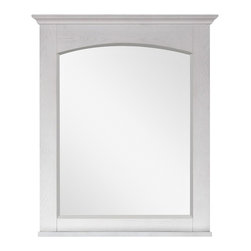 """Lamps Plus - Country - Cottage Westwood 28"""" Wide Whitewash Wall Mirror - Westwood 28"""" Wide Whitewash Wall Mirror Chinese oak wood frame large wall mirror. Whitewash finish frame and transitional design. Beveled mirror glass. Includes a matching wood base shelf for your bath. Easy hanging with cleat on back. Includes mounting hardware. Vertical hang only. 28"""" wide. 33"""" high. 2 1/4"""" deep.  Chinese oak wood frame large wall mirror.  Whitewash finish frame and transitional design.  Beveled mirror glass.  Includes a matching wood base shelf for your bath.  Easy hanging with cleat on back.  Includes mounting hardware.  Vertical hang only.  28"""" wide.  33"""" high.  2 1/4"""" deep."""