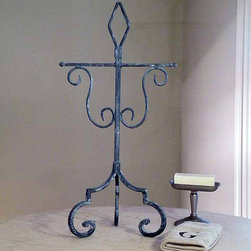 Abilene Towel Stand - Individuality is part of this lines hand-crafted allure.
