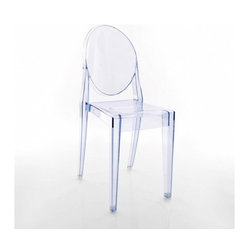Victoria Ghost Chair, Set of 2, Transparent Light Blue