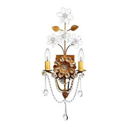 Canopy Designs - Canopy Designs Marseilles Sconce - Marseilles sconce by Canopy Designs. Frame Color: Antique Gold, Old Gold, Antique Silver, Bronze, Antique White, Black, or custom. Number of Lights: 2 candelabra. Customization available.