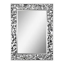 Dress Up Your Holiday - Crinkled chrome makes the light dance for a bit of glamour. The couture mirror will look great even after the holidays!