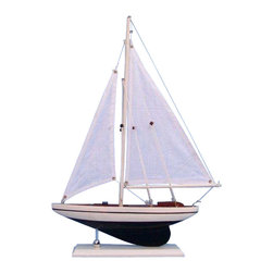 "Handcrafted Model Ships - Pacific Sailor Black 17"" - Table Centerpiece - Not a model ship kit"