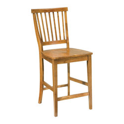 """Home Styles - Home Styles Arts & Crafts 24"""" Solid Wood Counter Stool in Cottage Oak - Home Styles - Bar Stools - 518089"""