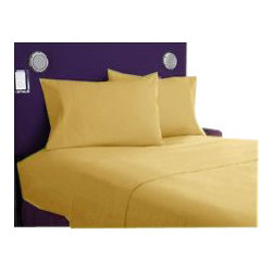 SCALA - 1000Tc Solid Gold Color Sheet Set - We offer supreme quality Egyptian Cotton bed linens with exclusive Italian Finishing. These soft, smooth and silky high quality and durable bed linens come to you at a very low price as these come directly from the manufacturer. We offer Italian finish on Egyptian cotton, which makes this product truly exclusive, and owner's pride. It's an experience and without it you are truly missing the luxury and comfort!!