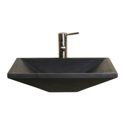 The Allstone Group - V-VGRTTP2014 Black Lava Honed Vessel Sink - Natural stone strikes a balance between beauty and function. Each design is hand-hewn from 100% natural stone.  Vessel sinks can be the most inspiring feature in a bathroom, adding style and beauty to any bath space.  Stone not only is pleasing to the eye but also has the feel of something natural and solid.