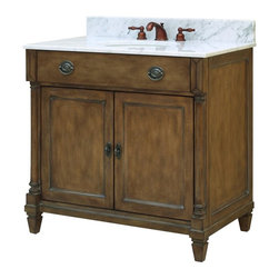 Sagehill Designs - Sagehill Designs RP3621D Regency Place 36 in. Single Bathroom Vanity Multicolor - Shop for Bathroom Cabinets from Hayneedle.com! With great classic style the Sagehill Designs RP3621D Regency Place 36 in. Single Bathroom Vanity is just the way to spice things up in your bathroom. This set has a stunning antique finish throughout with its matching vanity and beveled-glass mirror. The free-standing vanity has carved accents and a brass hardware to bring the look together. Your choice of countertop looks great and is even easy to maintain. About Sagehill DesignsWith Sagehill Designs it s all in the details. Since 1986 Sagehill Designs has been crafting superior quality kitchen and bath furnishings. Rich in detail that matter you ll find heirloom-quality finishes impeccable craftsmanship and generous storage wrapped in a smart design. You get it all with a Sagehill Design original. Sagehill Design s specialists in helping you create the perfect kitchen or bath environment.