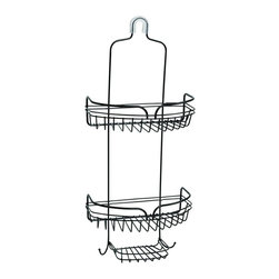 """Zenith - Zenith 7529HB 23.75"""" Metal Over the Shower Head Caddy in Oil Rubbed Bronze - Zenith 7529HB 23.75"""" Metal Over the Shower Head Caddy in Oil Rubbed BronzeOrganize your shower instantly with this easy to install rust-resistant showerhead caddy. Provides storage for bottles, razors, soap,  shower puffs & more. Slip-proof collar and suction cups are included to secure caddy.Zenith 7529HB 23.75"""" Metal Over the Shower Head Caddy in Oil Rubbed Bronze, Features:&#149 Adds 2 large shelves/baskets to your shower area"""