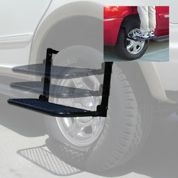 ProIroda - Wheel Step/Truck Step - Great for putting your goods on top of your roof or cleaning top of your vehicle.Wheel Step fits large Trucks or SUV.