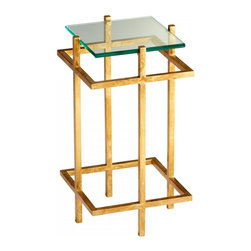 Joshua Marshal - Gold Leaf Gallery End Table - Gold Leaf Gallery End Table