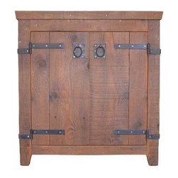 "Native Trails - Native Trails 30"" Americana Vanity in Chestnut - *Crafted from recycled wood for exceptional strength"