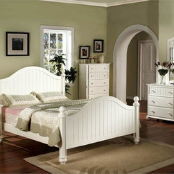 Beds / Bedroom Furniture - Compliment your bedroom décor with the Cape Cod cottage bed. The combination of arched headboard and square posts with finials makes this bed a stylish addition to any bedroom. The Cape Cod bed is available in queen and is also available in full or twin perfect for a girls bedroom.