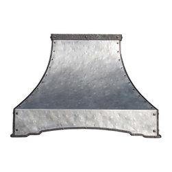 Zinc Range Hood   Arched Sweep   Vogler - Custom Zinc Arched Sweep Range Hood by Vogler Metalwork & Design.
