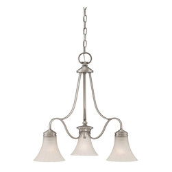 """Quoizel - Quoizel """"Aliza"""" 3 Light Chandelier Antique Nickel - This 3 light chandelier from the Aliza collection by Quoizel will enhance your home with a perfect mix of form and function.  The features include an Antique Nickel finish. The height 22.5"""". Contemporary style. (3) 100w A19 medium base bulbs or CFL Spiral (not included)."""