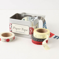 Numbers Paper Tape - I didn't truly appreciate decorative tape until I started using it; now, I simply can't get enough. It's perfect for gifts, envelopes and just to stick things up on the wall temporarily.