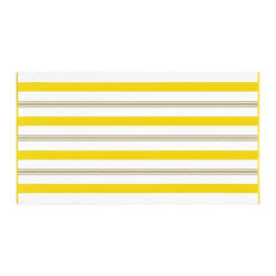 Kassatex - Kassatex Spiaggia Cabana Beach Towel, Yellow - If you love to lounge by the pool or beach, this oversized towel promises to be your new best friend. Happy, colorful prints and luxurious softness combined with a nifty quick-dry feature make it truly irresistible. Go ahead and kiss your old beach towel goodbye.