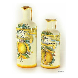 Artistica - Hand Made in Italy - Toscana: Juice Decanters ''Succo Di Melograno'', ''Succo Di Limoni'' - Toscana Collection: